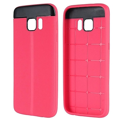Insten T Style Anti-Slip TPU Skin Rubber Gel Case Cover For Samsung Galaxy S7 - Hot Pink/Black 24097565