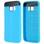 Insten T Style Anti-Slip TPU Skin Rubber Gel Case Cover For Samsung Galaxy S7 - Blue/Black