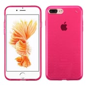 Insten Frosted TPU Rubber Skin Back Gel Shell Cover Case For Apple iPhone 7 Plus - Hot Pink