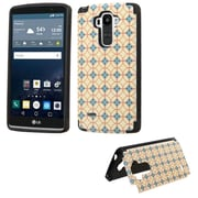 Insten Copper coins Hard Rubberized Cover Case w/card holder For LG G Stylo - Brown/Blue