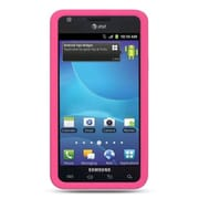 Insten Premium TPU Rubber Skin Gel Back Shell Case Cover For Samsung Galaxy S2 Attain I777 - Hot Pink