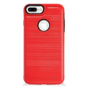 Insten Hybrid CS4 Brushed Metal Hard Dual Layer Shockproof Case Cover For Apple iPhone 7 Plus - Red/Black