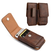 Insten Horizontal Leather Pouch Belt Clip Wallet Case Cover For HTC One M7, Samsung Galaxy S6 / S7 - Brown