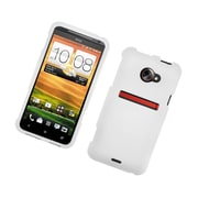 Insten Rubberized Hard Snap-in Case Cover for HTC EVO 4G LTE - White