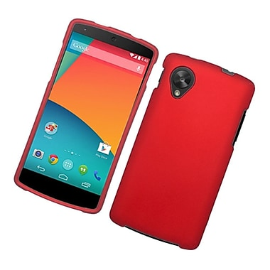 Insten Rubberized Hard Snap-in Case Cover for LG Google Nexus 5 D820 / D821 - Red