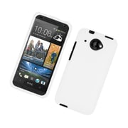 Insten Rubberized Hard Snap-in Case Cover for HTC deisre 601 - White