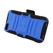 Insten Advanced Armor Dual Layer Hybrid Stand PC/Silicone Holster Case Cover for BlackBerry Z10 - Blue/Black