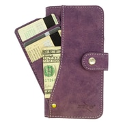 Insten Folio Leather Furry Case Pocket wallet w/stand/card holder For HTC Desire 626/626s - Purple