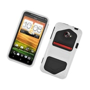 Insten Dual Layer Hybrid Hard Snap-in Case Cover for HTC EVO 4G LTE - White/Black