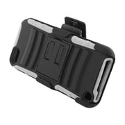 Insten Advanced Armor Dual Layer Hybrid Stand PC/Silicone Holster Case Cover for Apple iPod Touch 5th Gen - Black/White