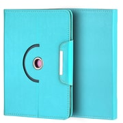 "Insten Universal Rotation Stand Folio Cover Case w/Card Slots Compatible with 8"" Tablet, Blue"