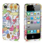 Insten Hard Crystal Rubber Skin Protective Shell Case For Apple iPhone 4 / 4S - Happy Playgroud