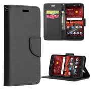 Insten Diary Leather Wallet Flip Credit Card Stand Case For ZTE Grand X 4 - Black