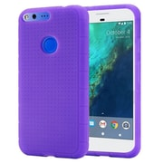 Insten Rugged Skin Rubber Case For Google Pixel - Purple