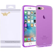 Insten Frosted Gel Cover Case with Screen Protector For Apple iPhone 7 Plus - Purple