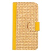 Insten Wallet Leather Rhinestone Case with Card slot For Alcatel One Touch Pop Astro - Gold
