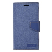 Insten Wallet Leather Stand Case with Card slot & Photo Display For Alcatel One Touch Fierce XL - Blue/Dark blue