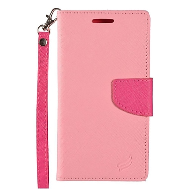 Insten Wallet Leather Case with Lanyard & Card Slot For Alcatel One Touch Fierce XL - Pink/Hot Pink