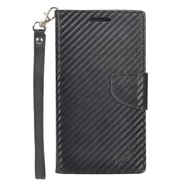 Insten Wallet Leather Case with Card Slot & Lanyard For Alcatel One Touch Fierce XL - Black