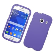 Insten Hard Rubber Coated Cover Case For Samsung Galaxy Ace Style - Purple