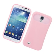 Insten Two-Tone/NightGlow Jelly Hybrid Hard Silicone Case Cover For Samsung Galaxy S4 - Pink
