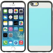 Insten Crystal Black TPU Two Tone PC Rubber Gel Shell Case For Apple iPhone 6 / 6s - Teal