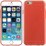 Insten Crystal 5mm Ultra Thin TPU Rubber Skin Gel Case For Apple iPhone 6 / 6s - Red