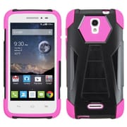 Insten Hard Hybrid Plastic Silicone Cover Case with Stand For Alcatel One Touch Pop Astro - Black/Hot Pink