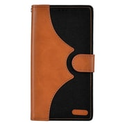 Insten Denim Flip Leather Wallet Pouch Stand Case Cover for Apple iPhone 7 - Brown/Black