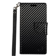 Insten Stand Flip PU Leather Wallet Pouch Case Cover for Alcatel One Touch Allura / Fierce 4 / Pop 4+ - Carbon Fiber