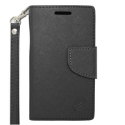 Insten Leather Case with Photo Display & Lanyard For ZTE Prelude 2/Whirl 2/Zinger - Black