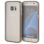 Insten Clear Acrylic Back Fusion TPU Candy Skin Rubber Gel Case For Samsung Galaxy S7 - Clear/Smoke