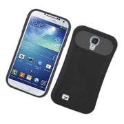 Insten Two-Tone/NightGlow Jelly Hybrid Hard Silicone Case Cover For Samsung Galaxy S4 - Black