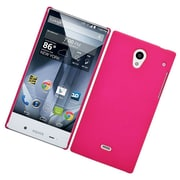 Insten Hard Rubber Coated Case For Sharp Aquos Crystal - Hot Pink
