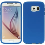 Insten Wrap-Up TPU Rubber Skin Gel Case w/Screen Protector For Samsung Galaxy S6 - Navy Blue