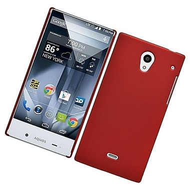 Insten Hard Rubberized Case For Sharp Aquos Crystal - Red
