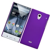 Insten Hard Rubberized Case For Sharp Aquos Crystal - Purple