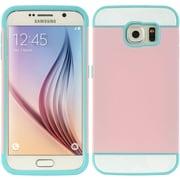 Insten Triple Hybrid Dual Layer Hard PC/TPU Case Cover For Samsung Galaxy S6 - Pink/Blue