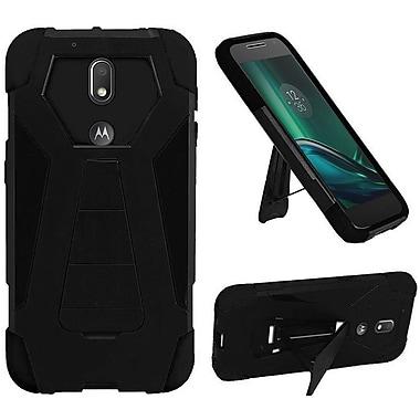 Insten Hard Hybrid Plastic Silicone Case w/stand For Motorola Moto G4 / G4 PLUS - Black