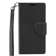 Insten Stand Flip PU Leather Wallet Flap Pouch Case Cover for Alcatel One Touch Allura / Fierce 4 / Pop 4+ - Black