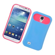 Insten Two-Tone/NightGlow Jelly Hybrid Hard Silicone Case Cover For Samsung Galaxy S4 - Blue/Hot Pink
