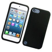Insten TPU Rubber Hard PC Candy Skin Mesh Case Cover For Apple iPod Touch 5th Gen - Black