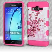 Insten TUFF Hybrid Cover Case (Military-Grade Certified) For Samsung Galaxy On5 - Spring Flowers/Electric Pink