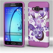 Insten TUFF Hybrid Protective Cover Case (Military-Grade Certified) For Samsung Galaxy On5 - Hibiscus Flower/Purple