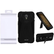 Insten Hybrid Premium Dual Layer Kickstand Shockproof Case For Alcatel One Touch Allura / Fierce 4 / Pop 4+ - Black
