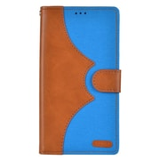 Insten Denim Flip Leather Wallet Pouch Stand Case Cover for Apple iPhone 7 Plus - Brown/Blue