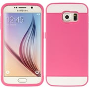 Insten Triple Hybrid Dual Layer Hard PC/TPU Case Cover For Samsung Galaxy S6 - Hot Pink