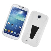 Insten Dual Layer Hybrid Stand TPU Rubber Candy Skin Case Cover for Samsung Galaxy S4 i9500 - White