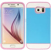 Insten Triple Hybrid Dual Layer Hard PC/TPU Case Cover For Samsung Galaxy S6 - Blue/Pink