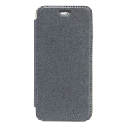 Insten PU1 Electroplating TPU Wallet Leather Pouch Case Cover for Apple iPhone 7 - Gray/Silver
